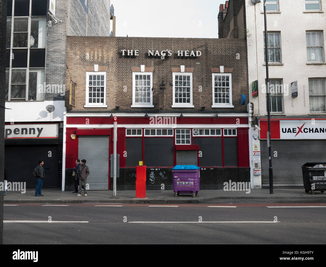 Nag's Head public house on Whitechapel Road in the East End of London - Stock Image