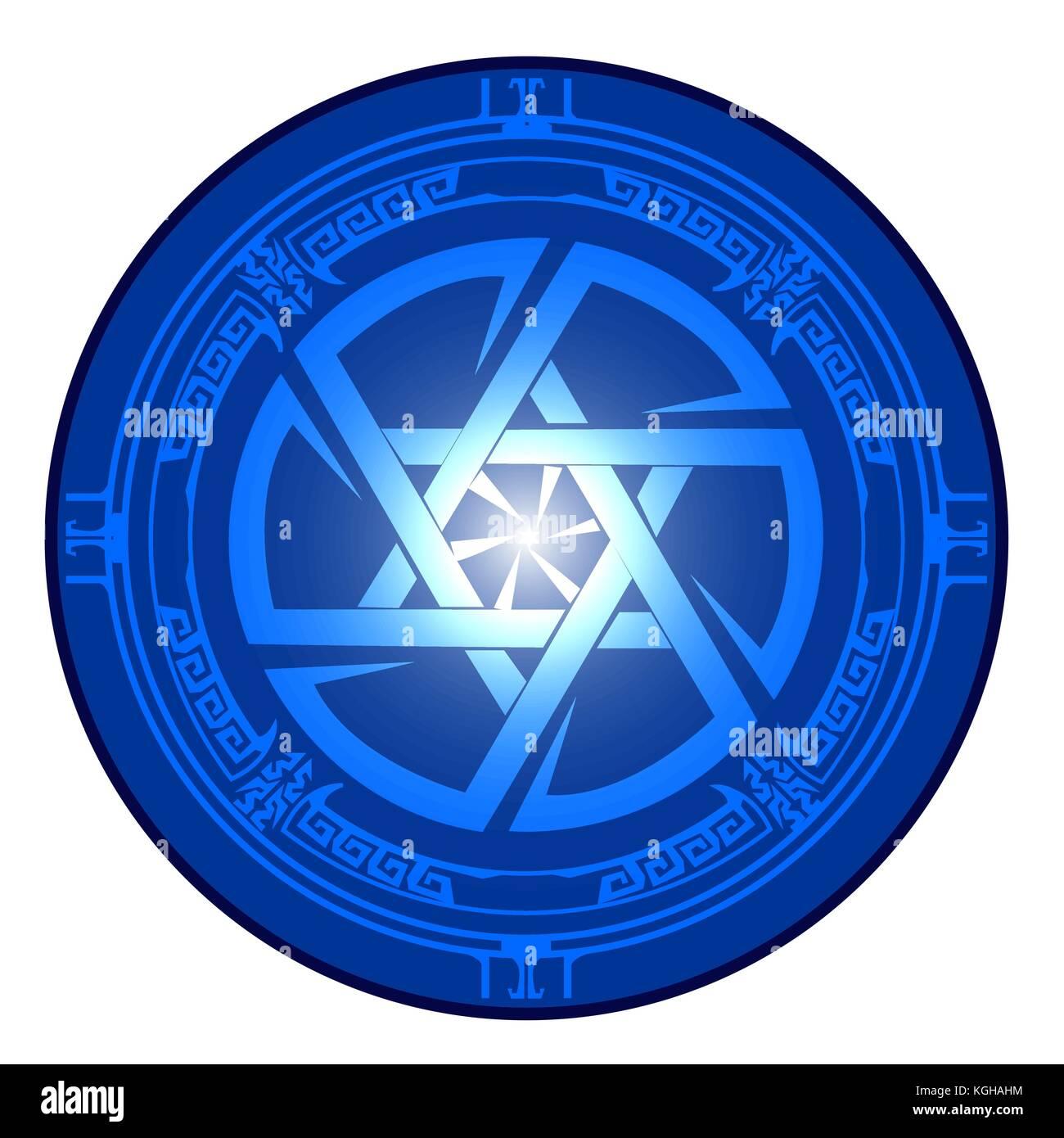 Star of David , Shield of David , Magen David , vector illustration , icon - Stock Image