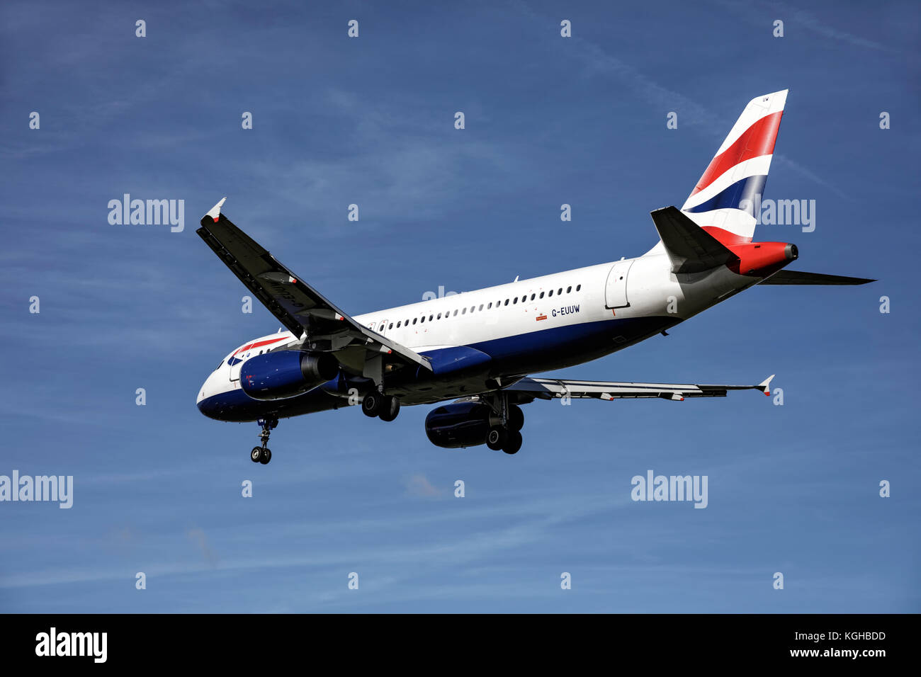 Airbus A320 of British Airways - Stock Image