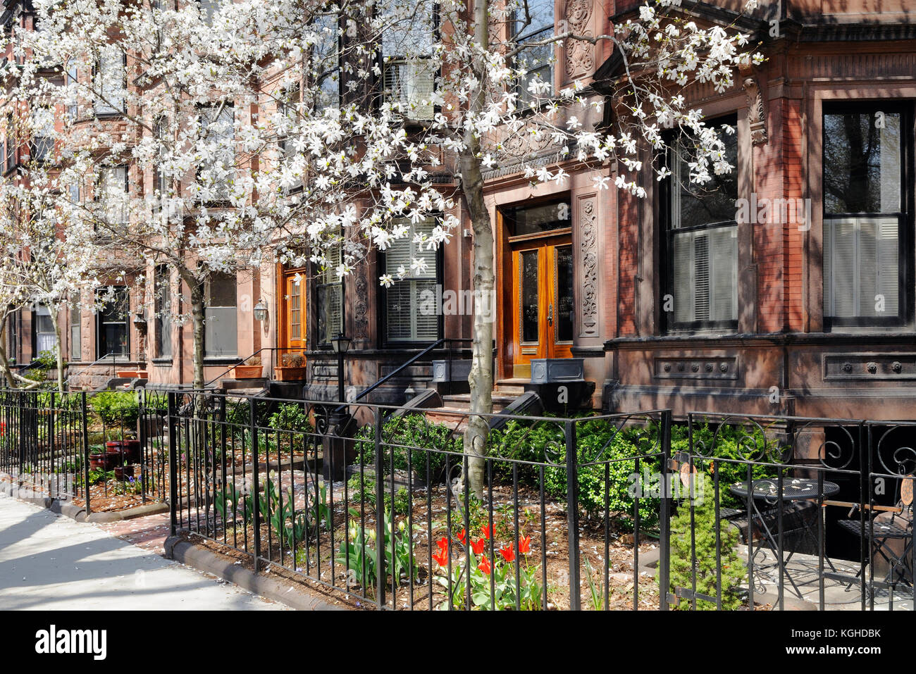 Back Bay Boston Victorian Brownstone Apartments And White Star