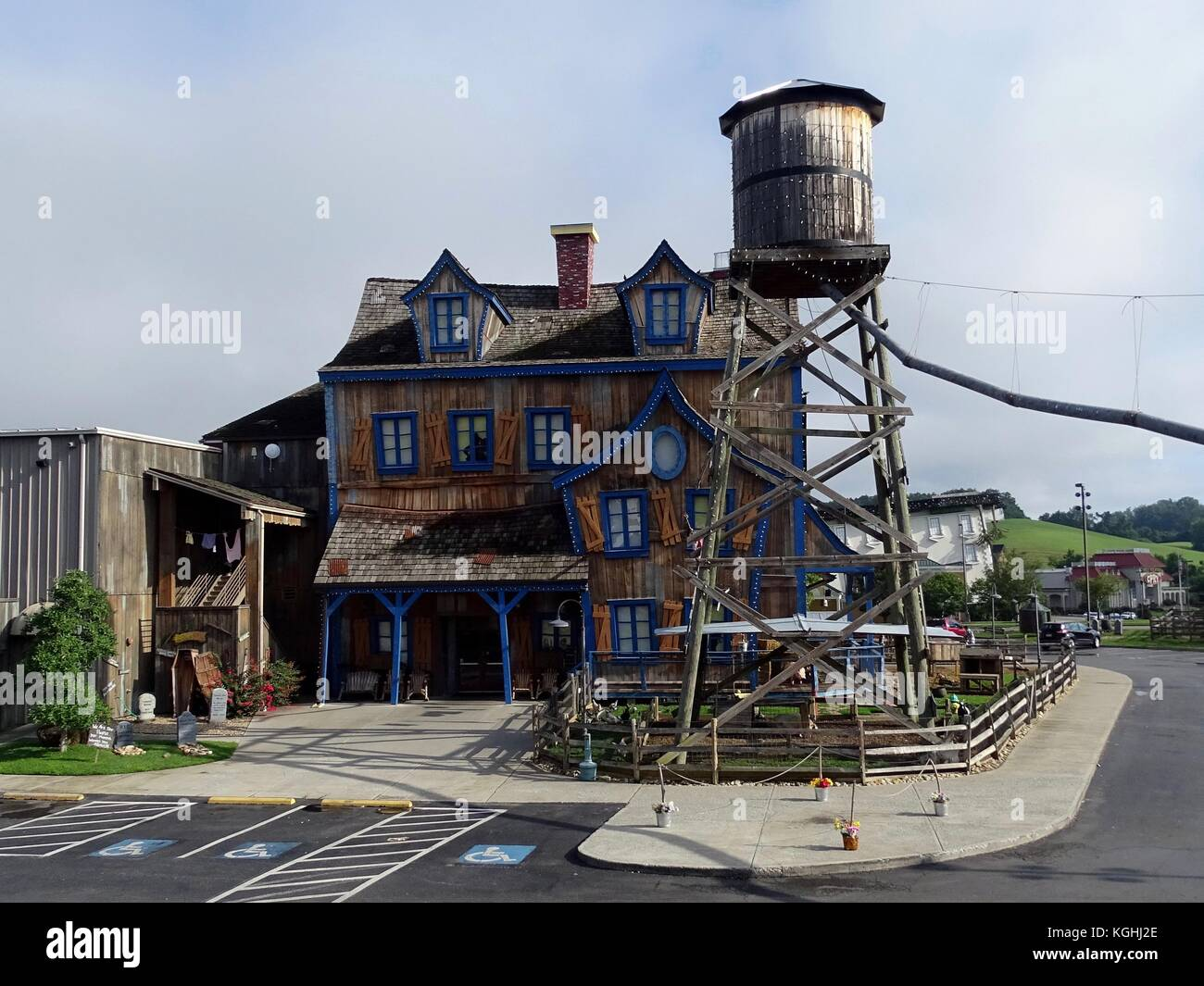 Pigeon Forge, Tennessee, United States-July 9, 2017:  Pigeon Forge Gem Mine attraction for tourist featuring novelty - Stock Image