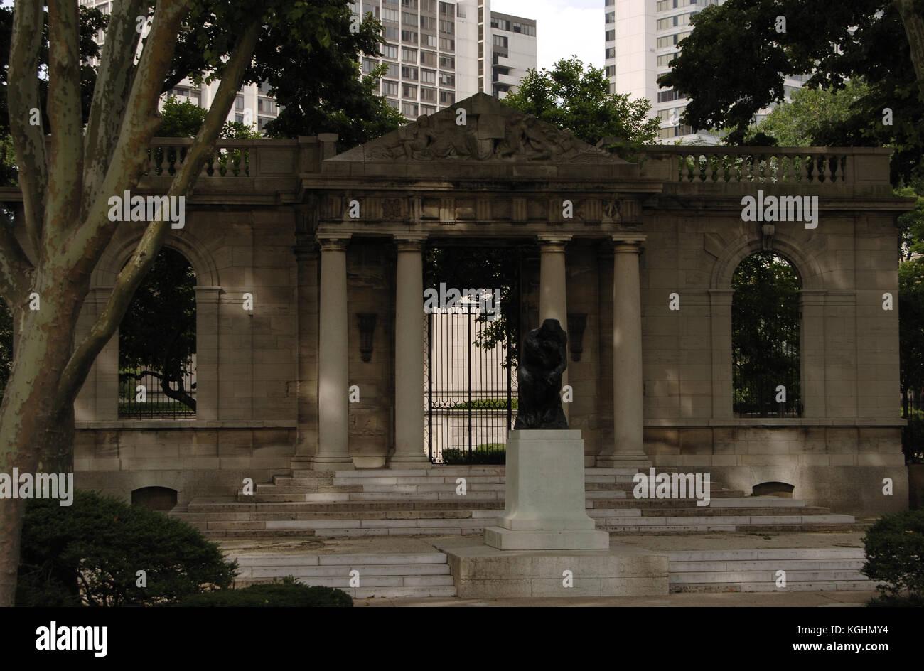 United States Pennsylvania Philadelphia Rodin Museum Exterior