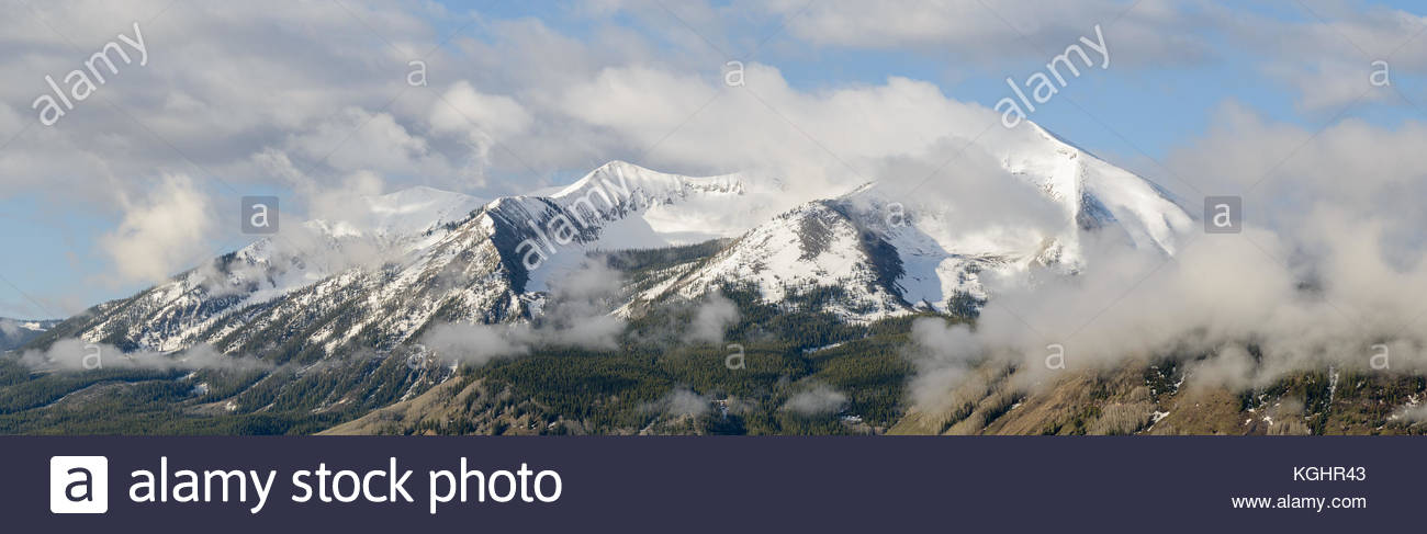 Spring clouds over Mount Whetstone near Crested Butte, Colorado Stock Photo