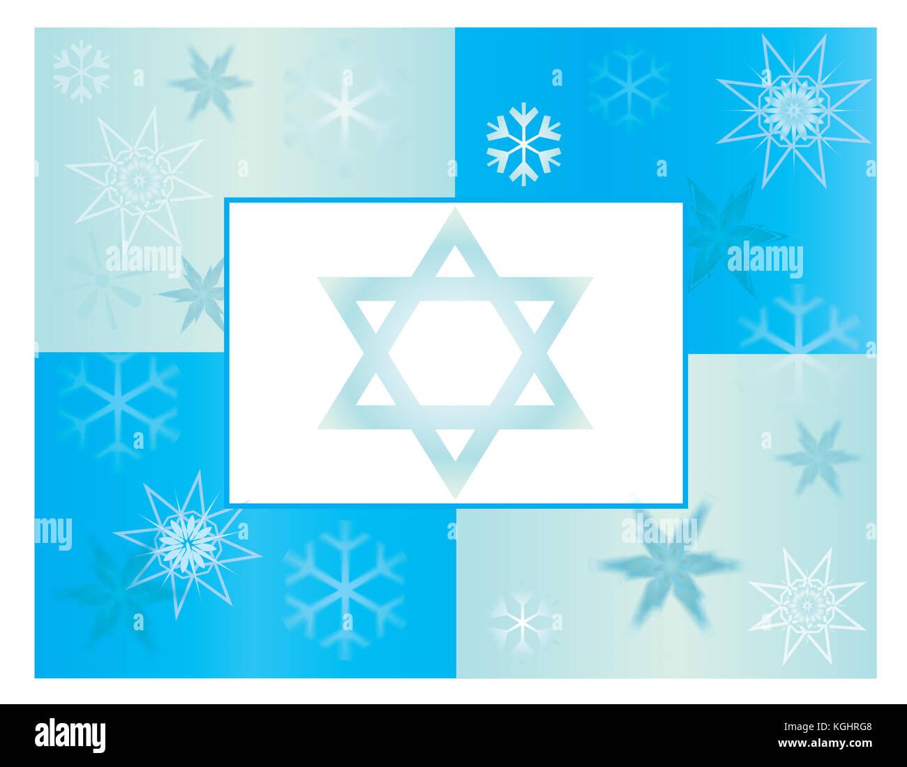 Hanukkah Card or Poster Template Stock Photo