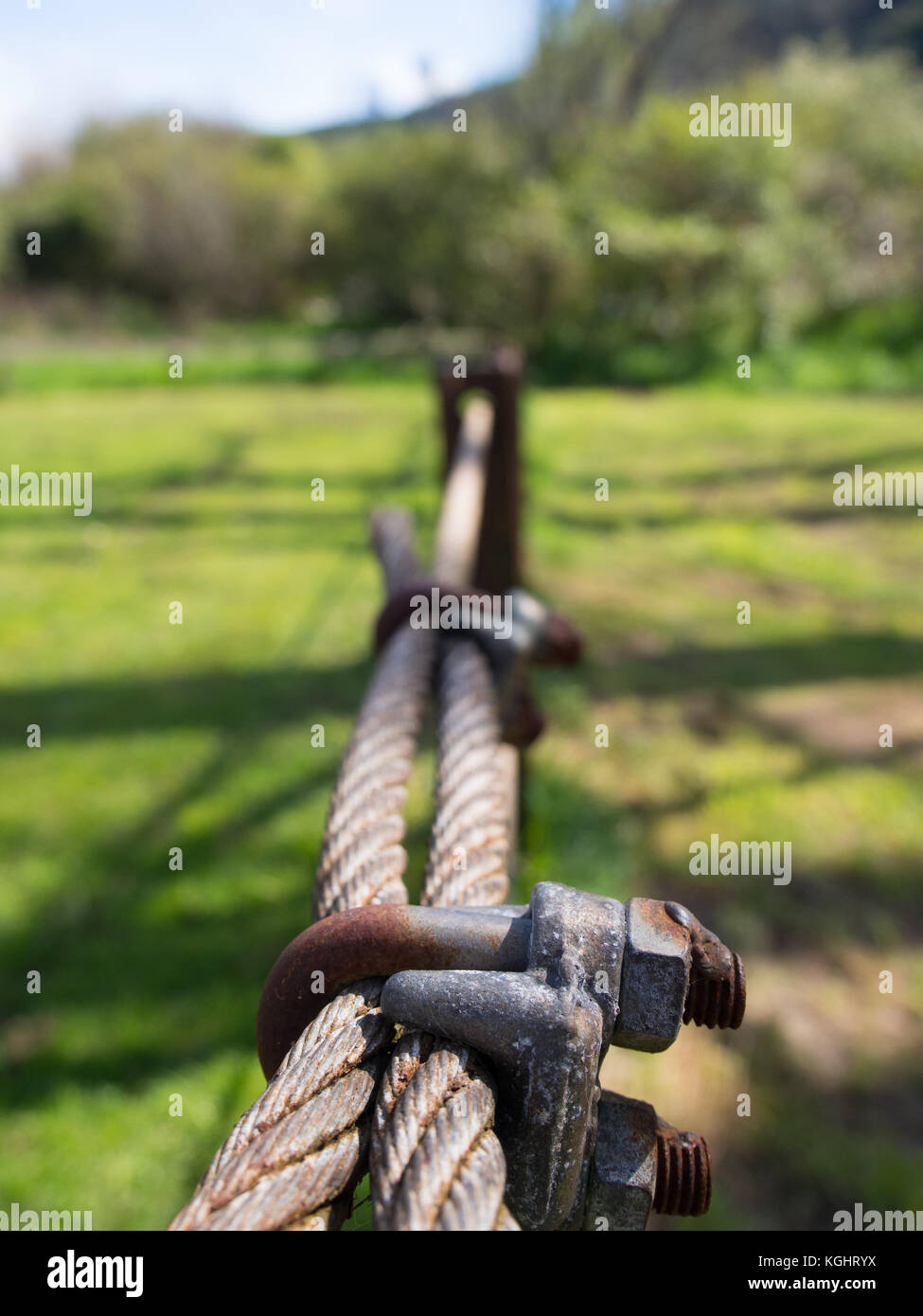 Wire Fence Line - Stock Image
