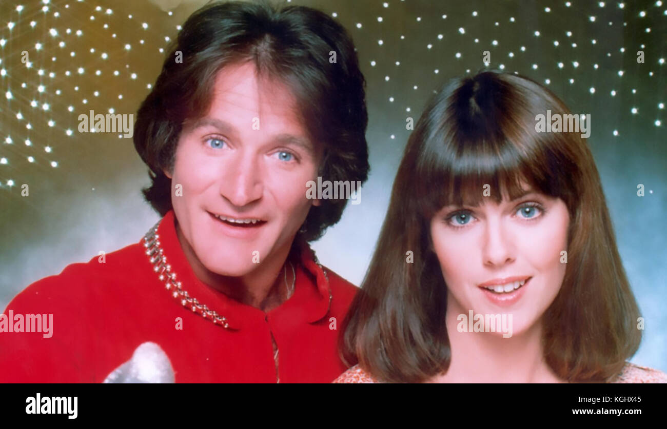 MORK & MINDY American ABC TV series 1978-82 with Pam Dawber and Robin Williams - Stock Image