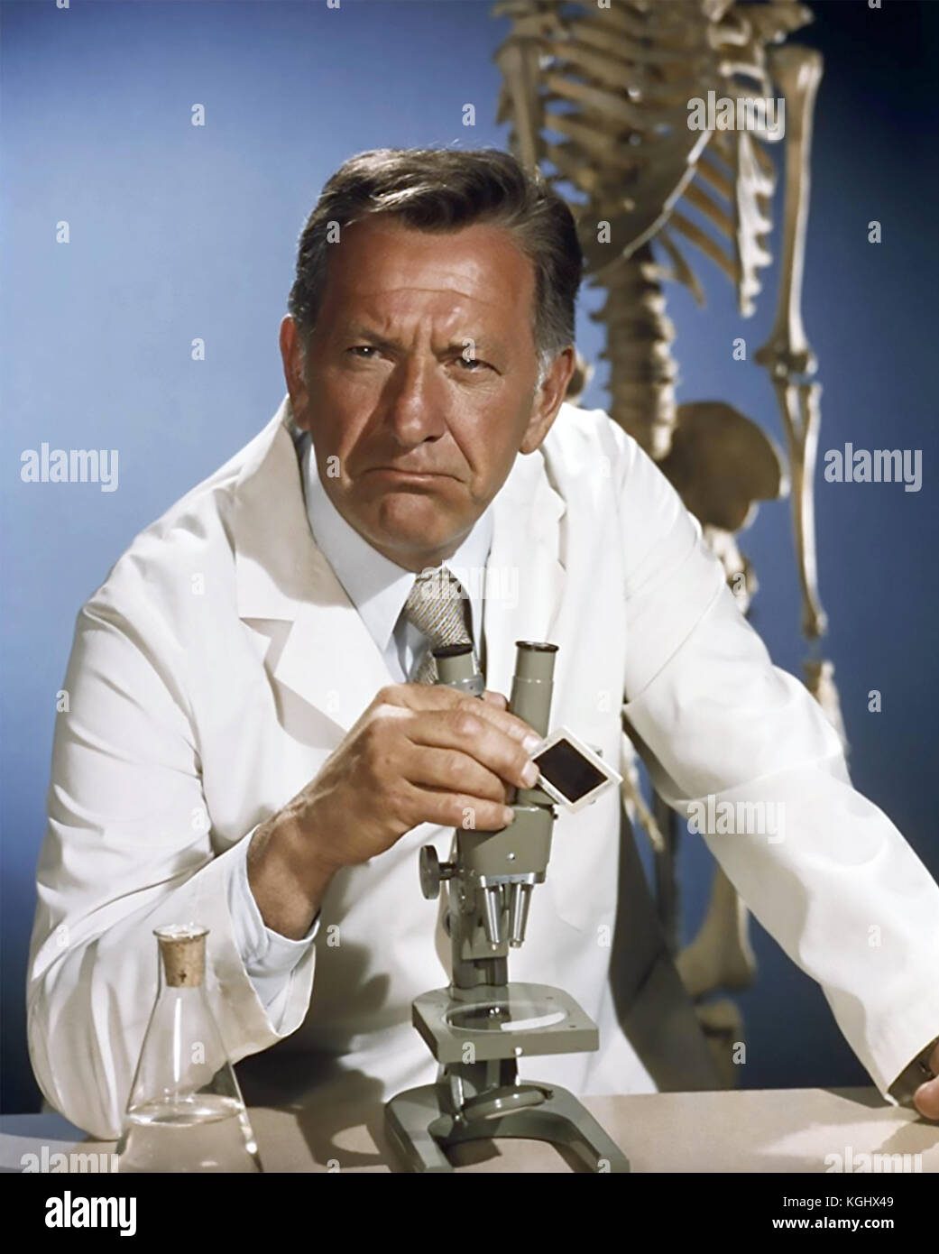 QUINCY, M.E. Universal Studios TV series 1976-1983 with Jack Klugman - Stock Image