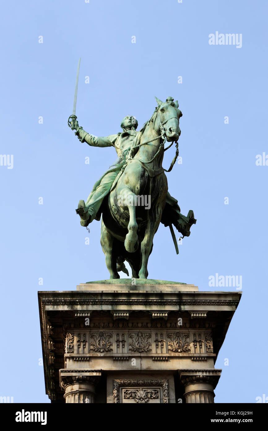 Monument to La fayette. Paris. France - Stock Image