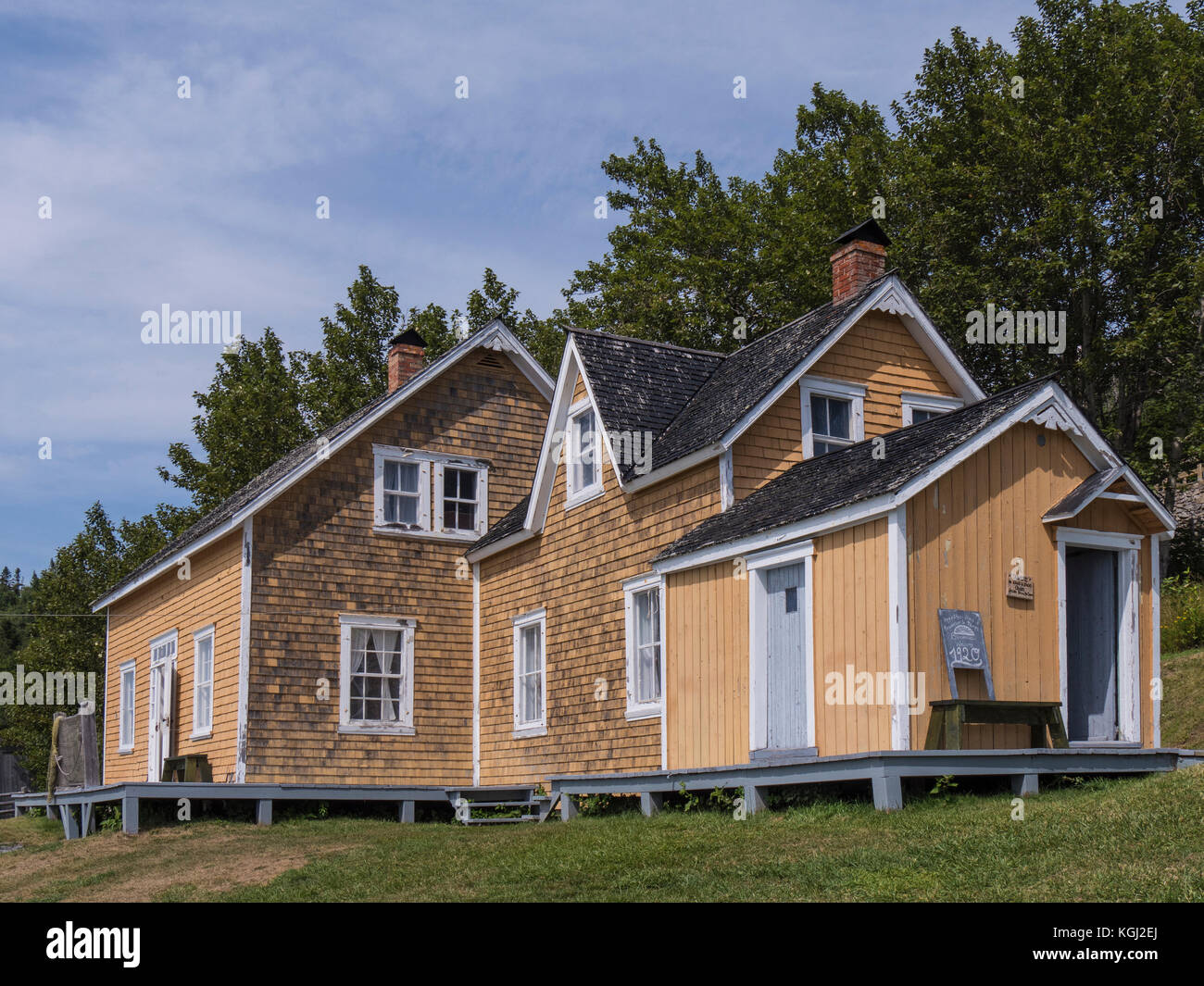Home at L'Anse Blanchette, home owned by Xavier Blanchette, Forillon National Park, Gaspe Peninsula, Canada. - Stock Image