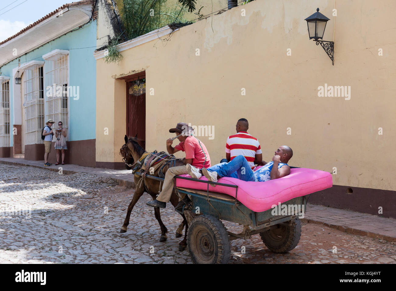 Daily life Trinidad Cuba - Stock Image