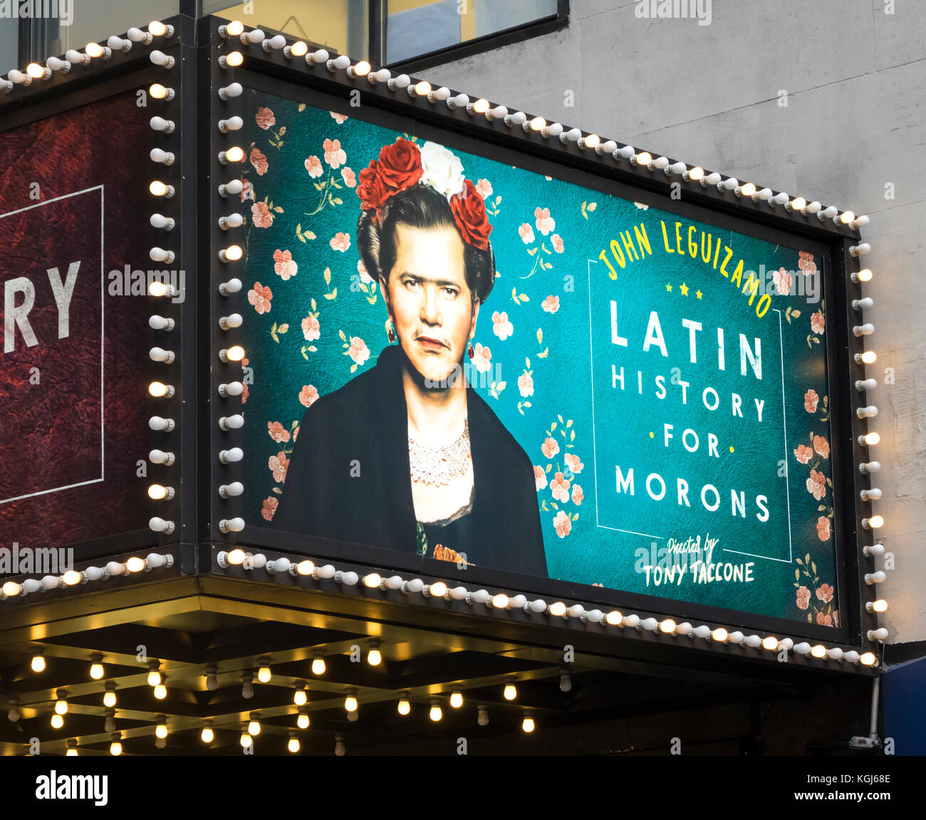 Latin History for Morons with John Leguizamo, a Roundabout Theatre Company production at Studio 54 in New York City - Stock Image