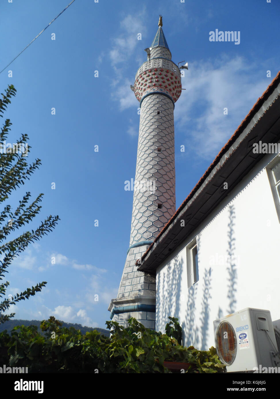 Ottoman Style Miranet Of A Mosque In Icmeler Old Village Mugla Province Turkey