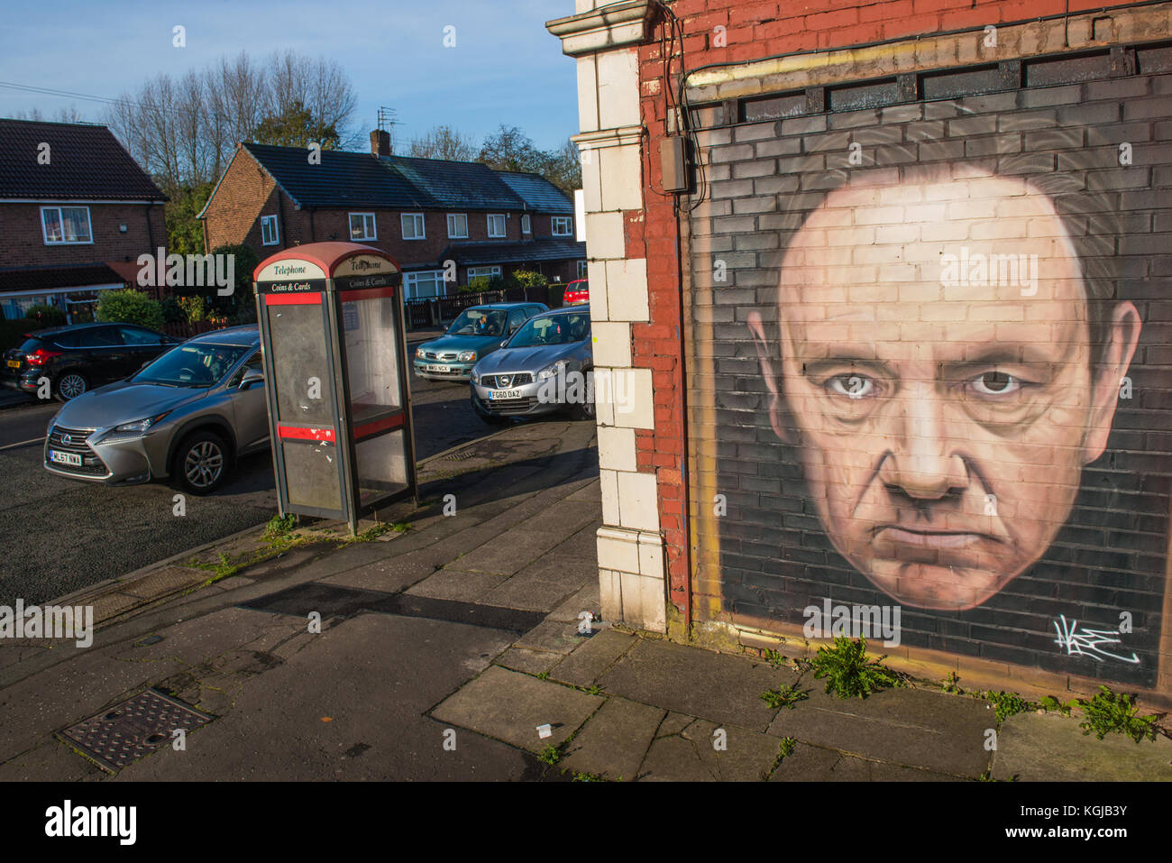 Manchester, UK. 08th Nov, 2017. Street artwork depicting actor American actor, director, producer and screenwriter - Stock Image