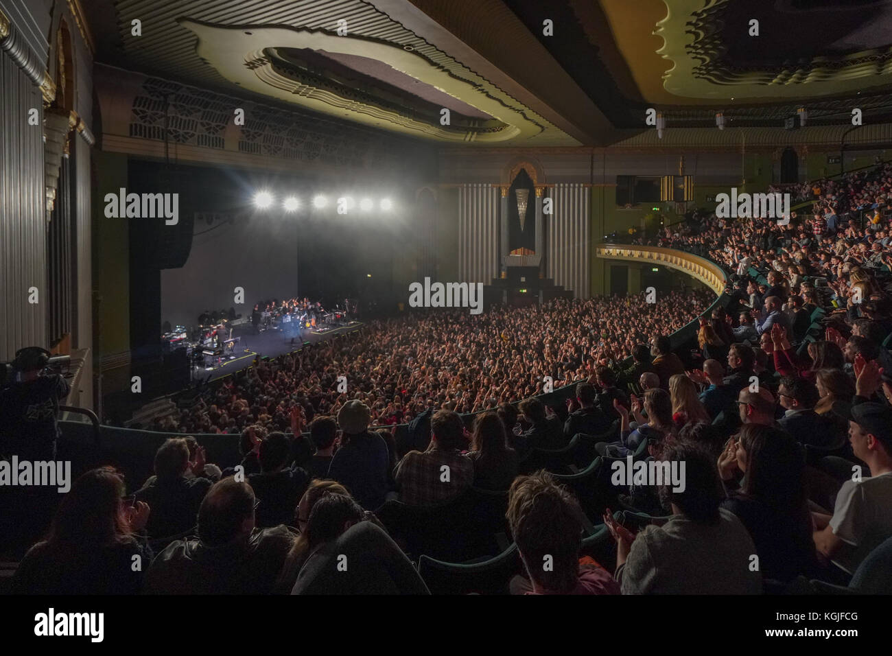 Hammersmith, London, UK. 08th Nov, 2017. Hammersmith Eventim Apollo in London during a performance by Father John - Stock Image
