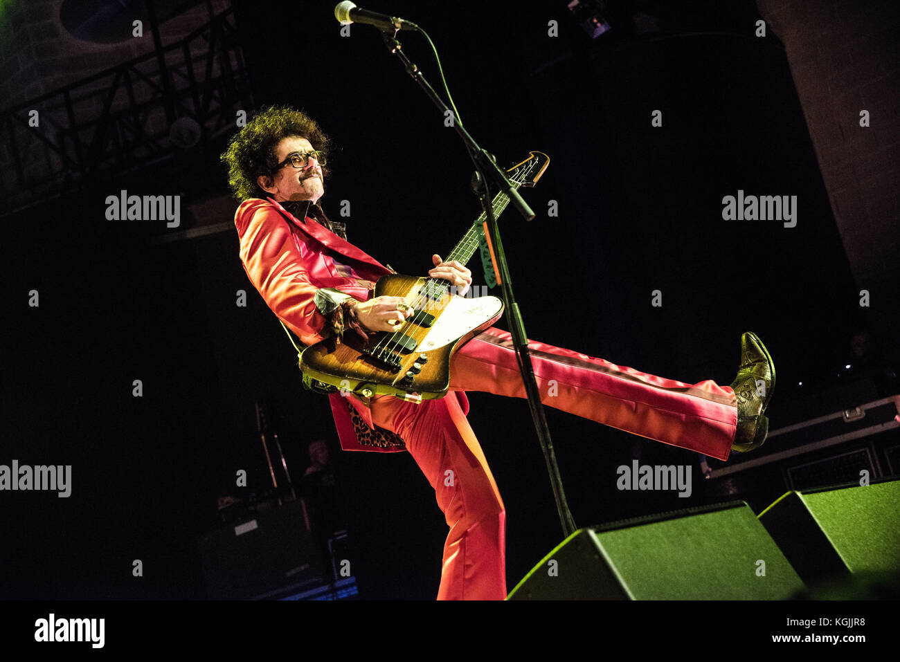 Milan, Italy. 08th Nov, 2017. Frankie Poullainperfoms with The Darkness at Alcatraz in Milan, Italy 8th november - Stock Image