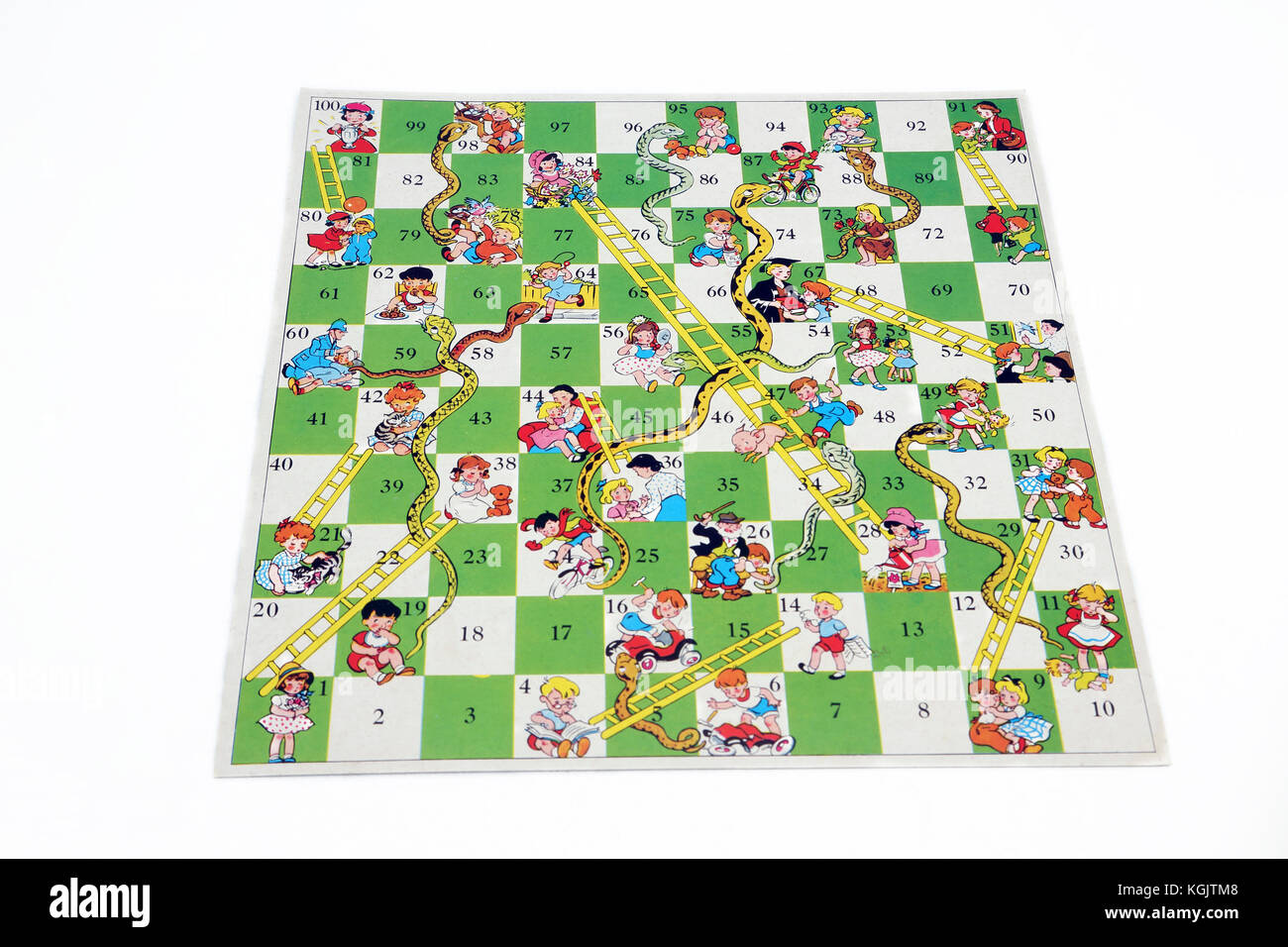 Vintage 1980's Snakes and Ladders Board Game - Stock Image
