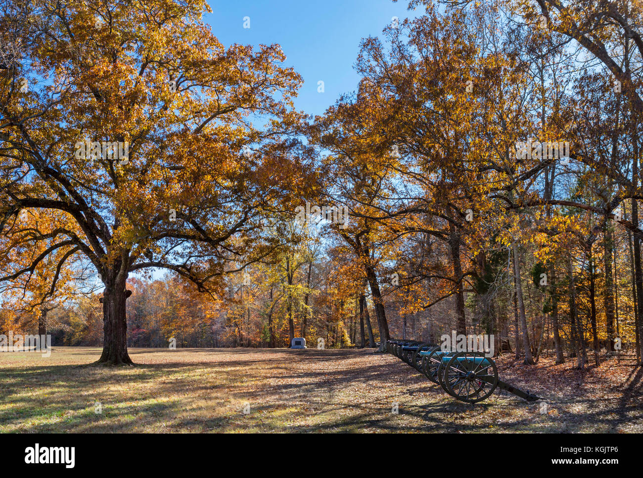 Ruggles Battery, Shiloh National Military Park, Tennessee, USA. - Stock Image
