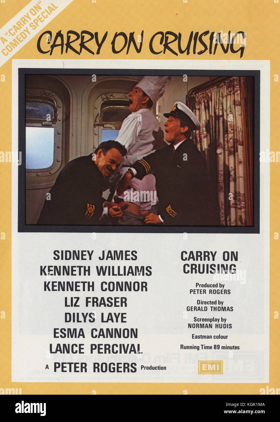 Carry on Cruising (1962) , Film poster , Kenneth Williams , Kenneth Connor - Stock Image