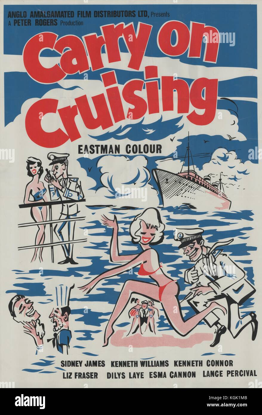 Carry on Cruising (1962) , Film poster - Stock Image