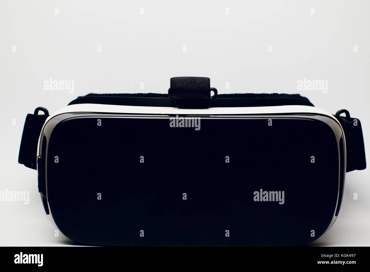virtual reality glasses on white background insulated - Stock Image