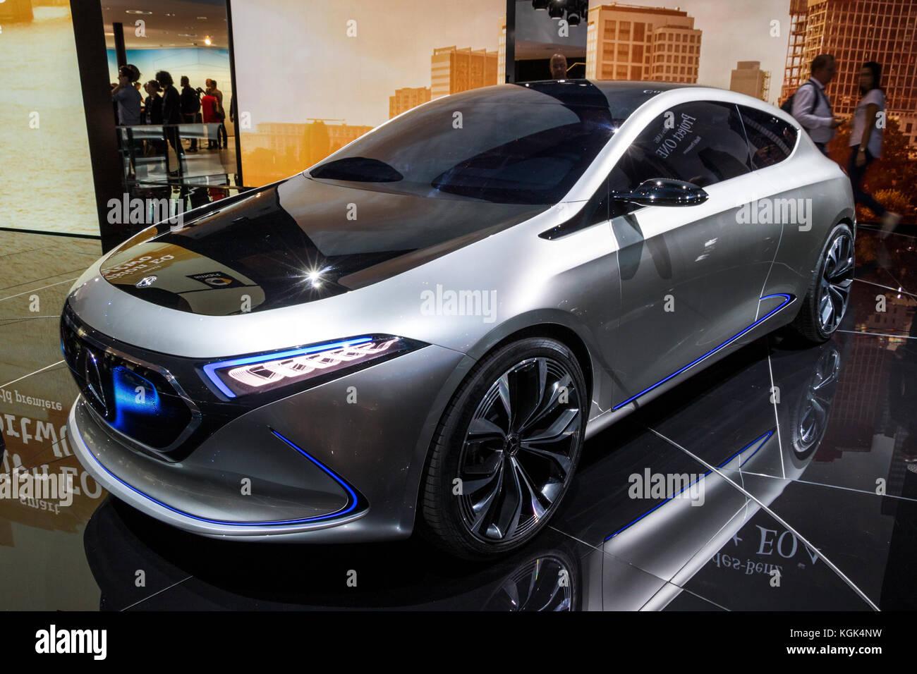 FRANKFURT, GERMANY - SEP 12, 2017: Mercedes-Benz Concept EQA ...