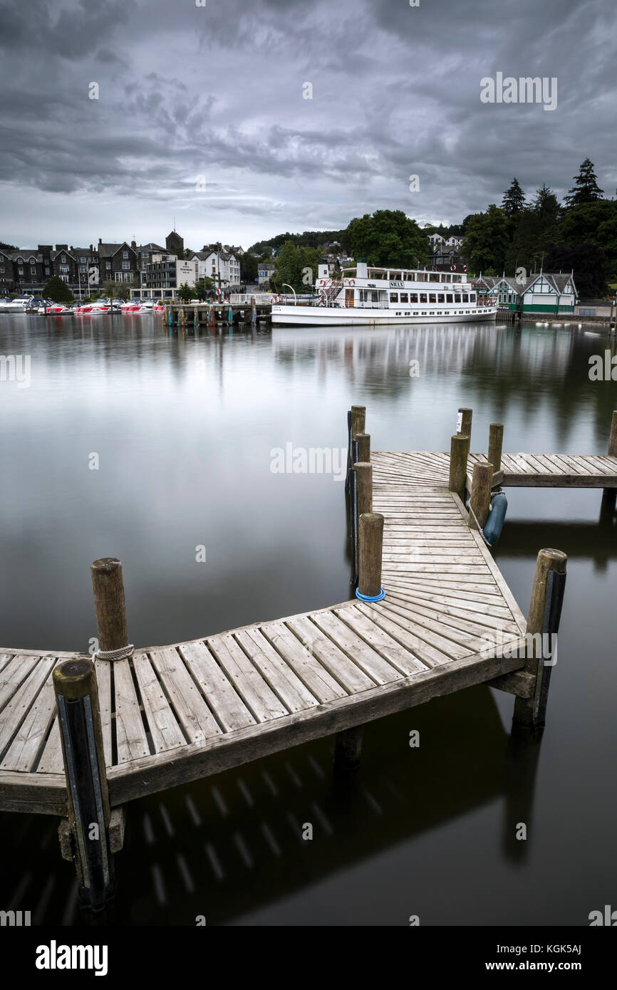 Bowness on Windermere; Lake District; UK - Stock Image