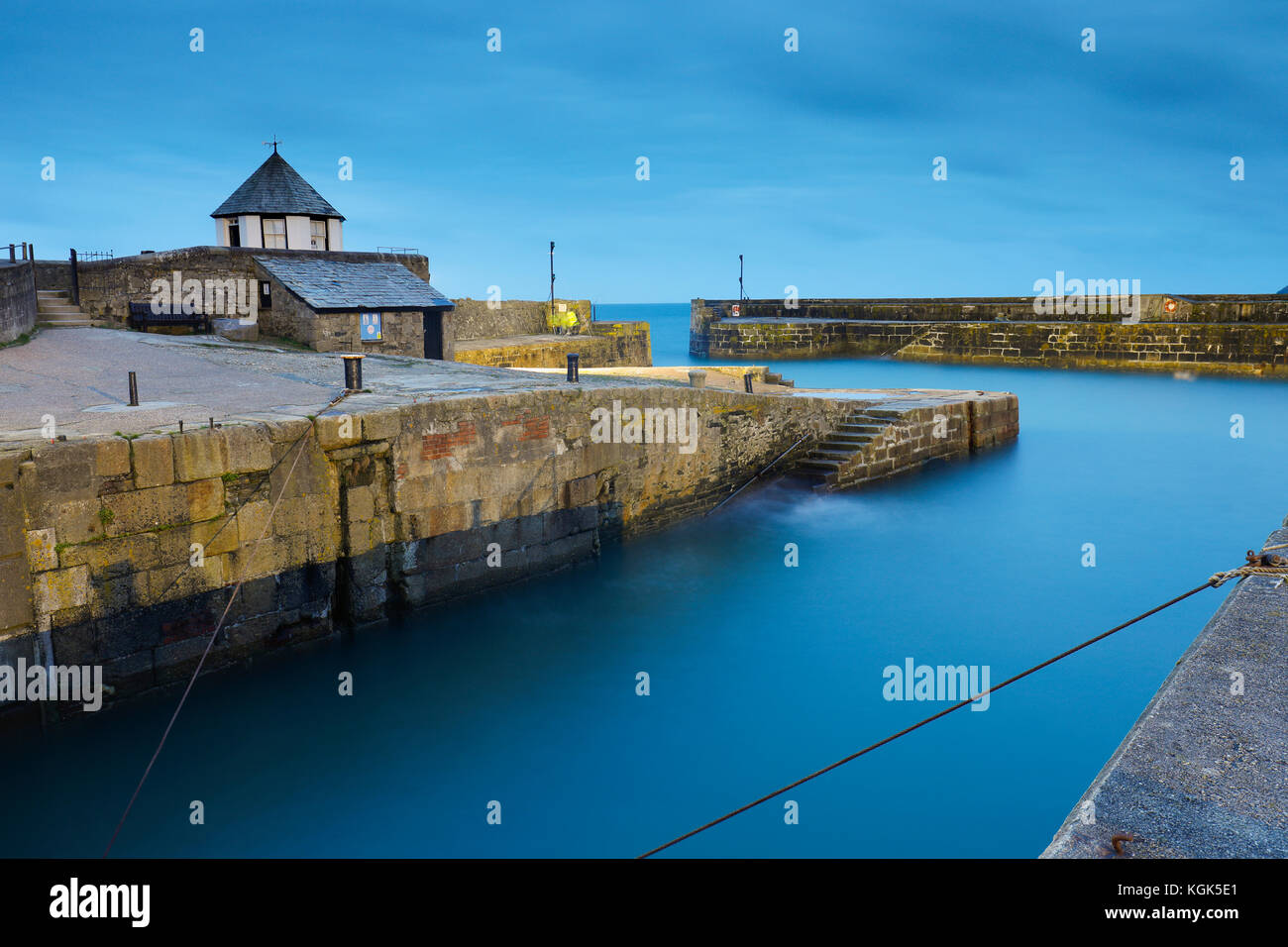 Charlestown Harbour; Cornwall; UK - Stock Image