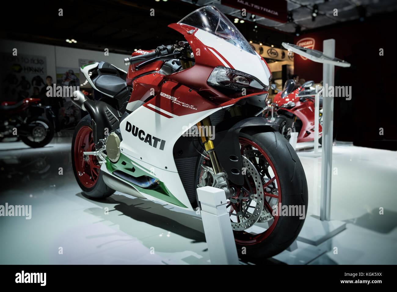 New Ducati Panigale 1299 FINAL EDITION motorbike at EICMA Milan motorbike Expo Stock Photo