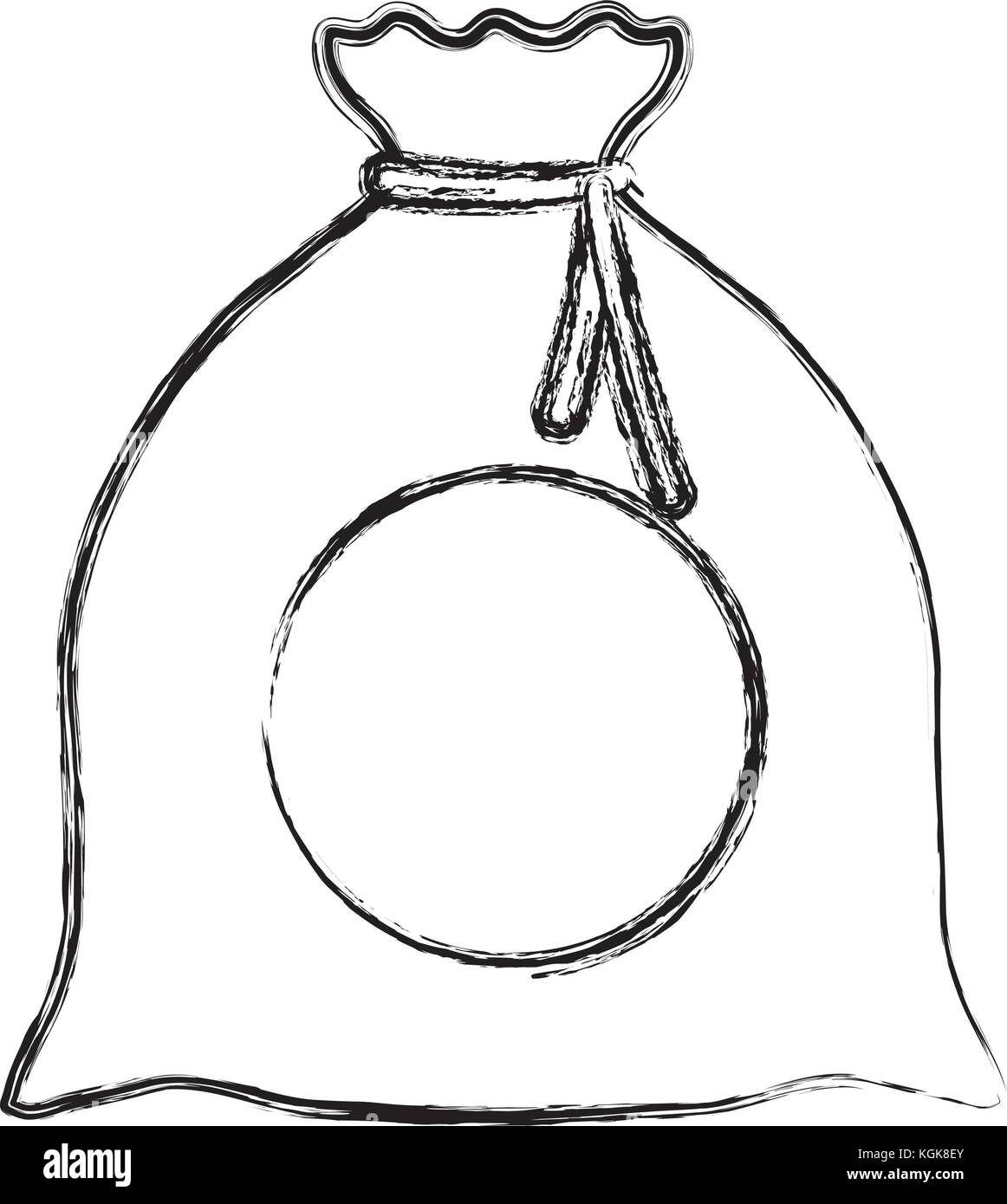 money sack icon  - Stock Image