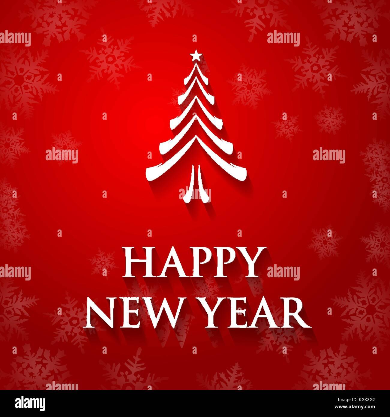 New Year Greeting Card Vector Vectors Stock Photos New Year