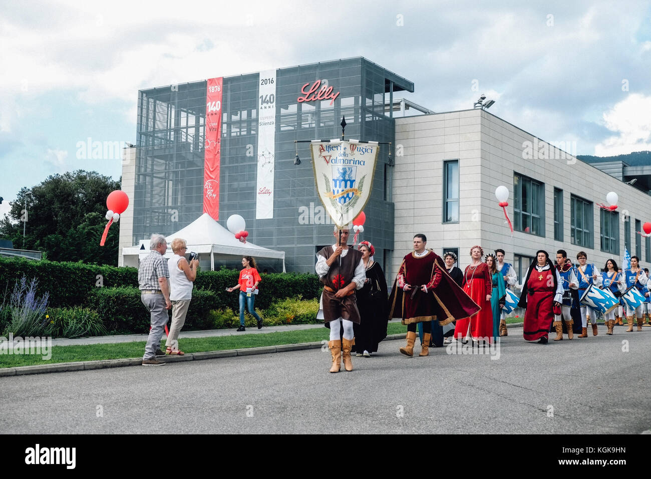 Medieval fellowship live performance inside the Eli Lilly