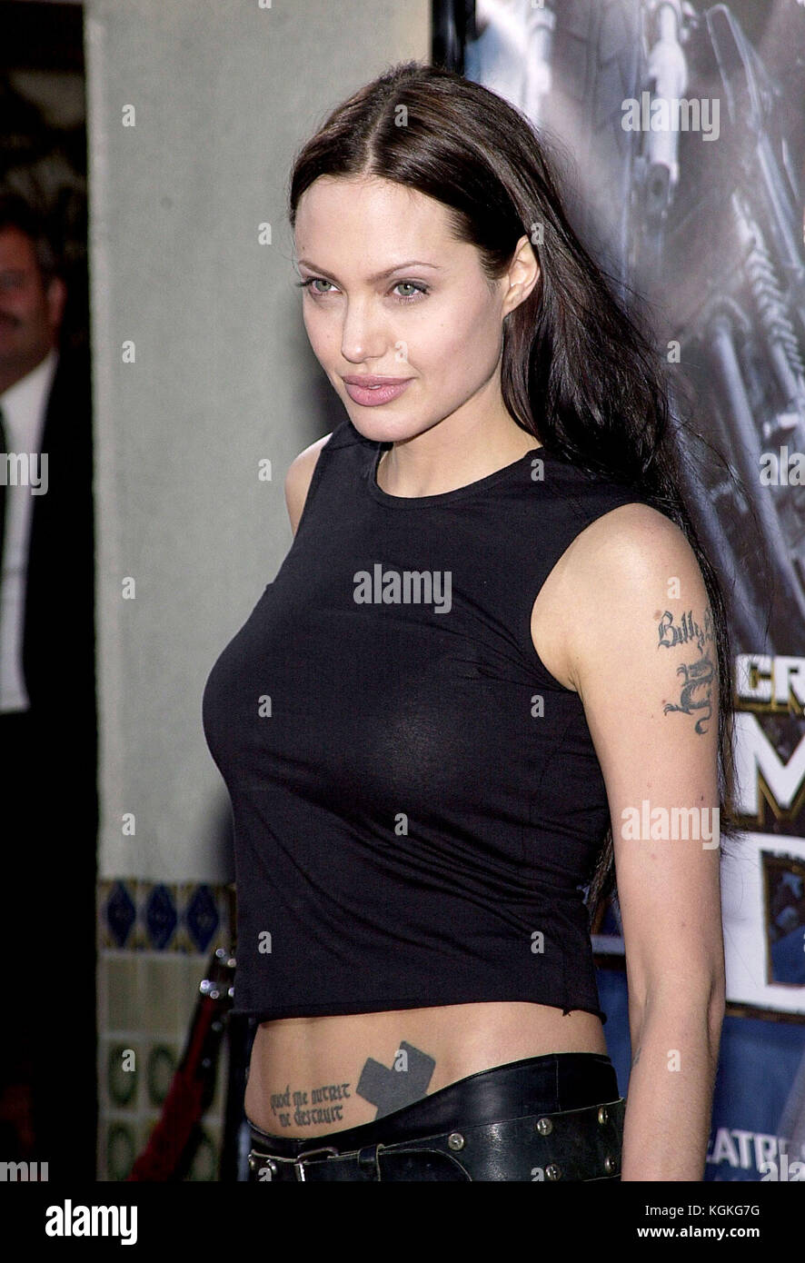Angelina Jolie Arriving At The Lara Croft Tomb Raider Premiere At