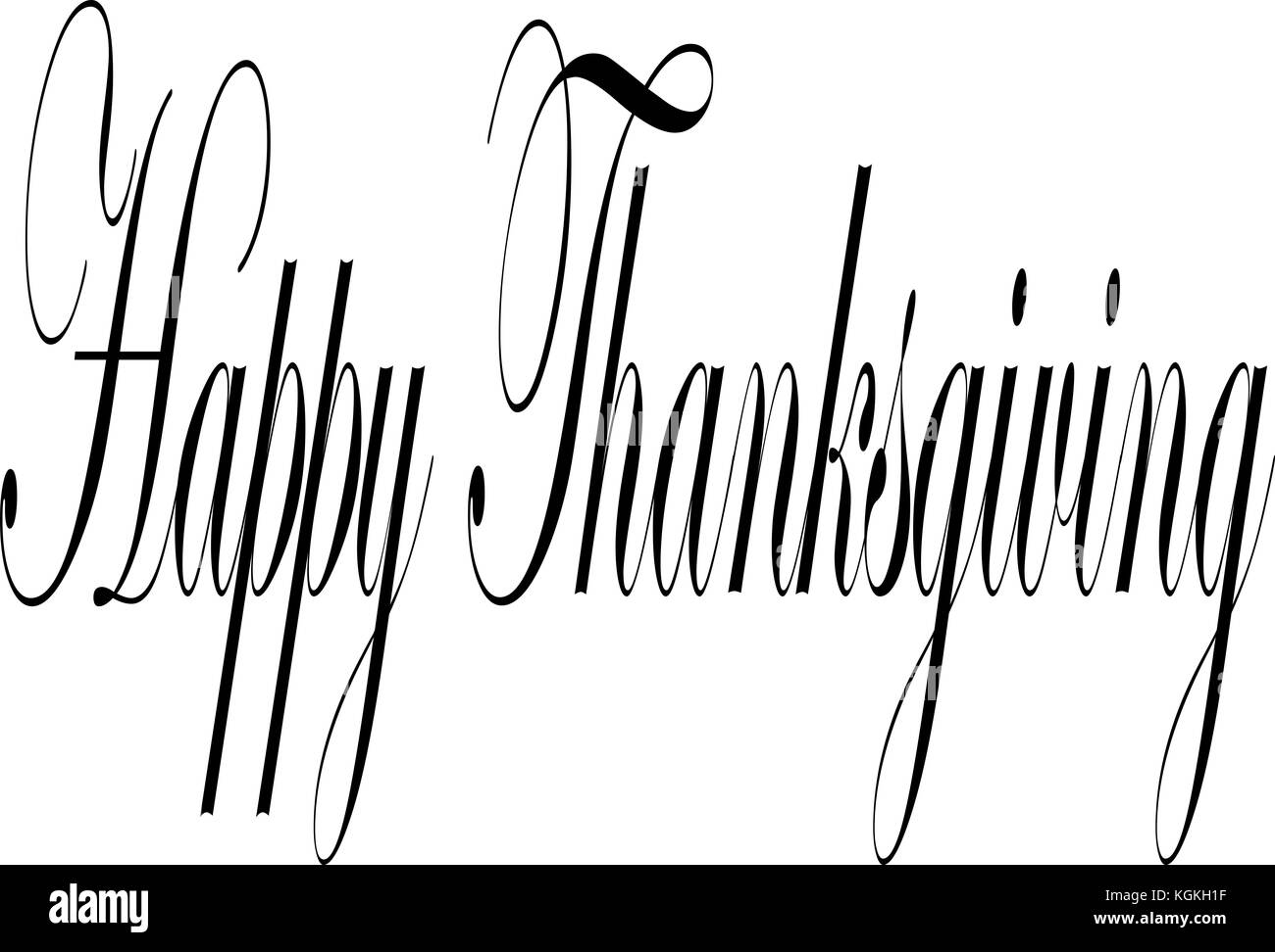 Happy Thanksgiving Text Sign Illustration On White