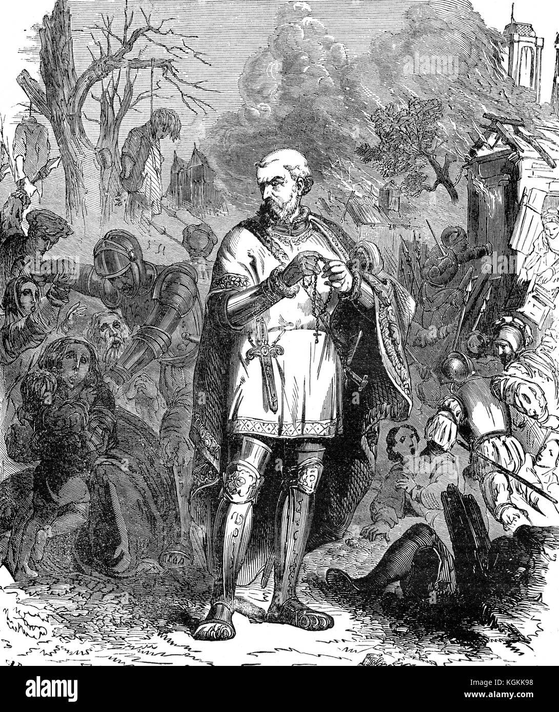The Massacre of St. Bartholomew's Eve or the Parisian Blood Wedding, 1572 Stock Photo