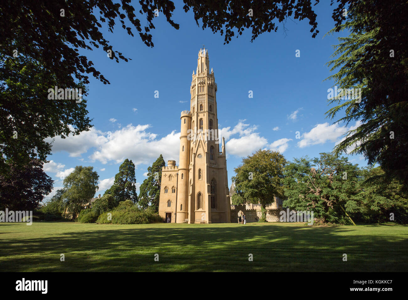 The Hadlow Tower, Hadlow Kent, UK. Grade 1 listed this is the tallest Gothic folly in existence. - Stock Image