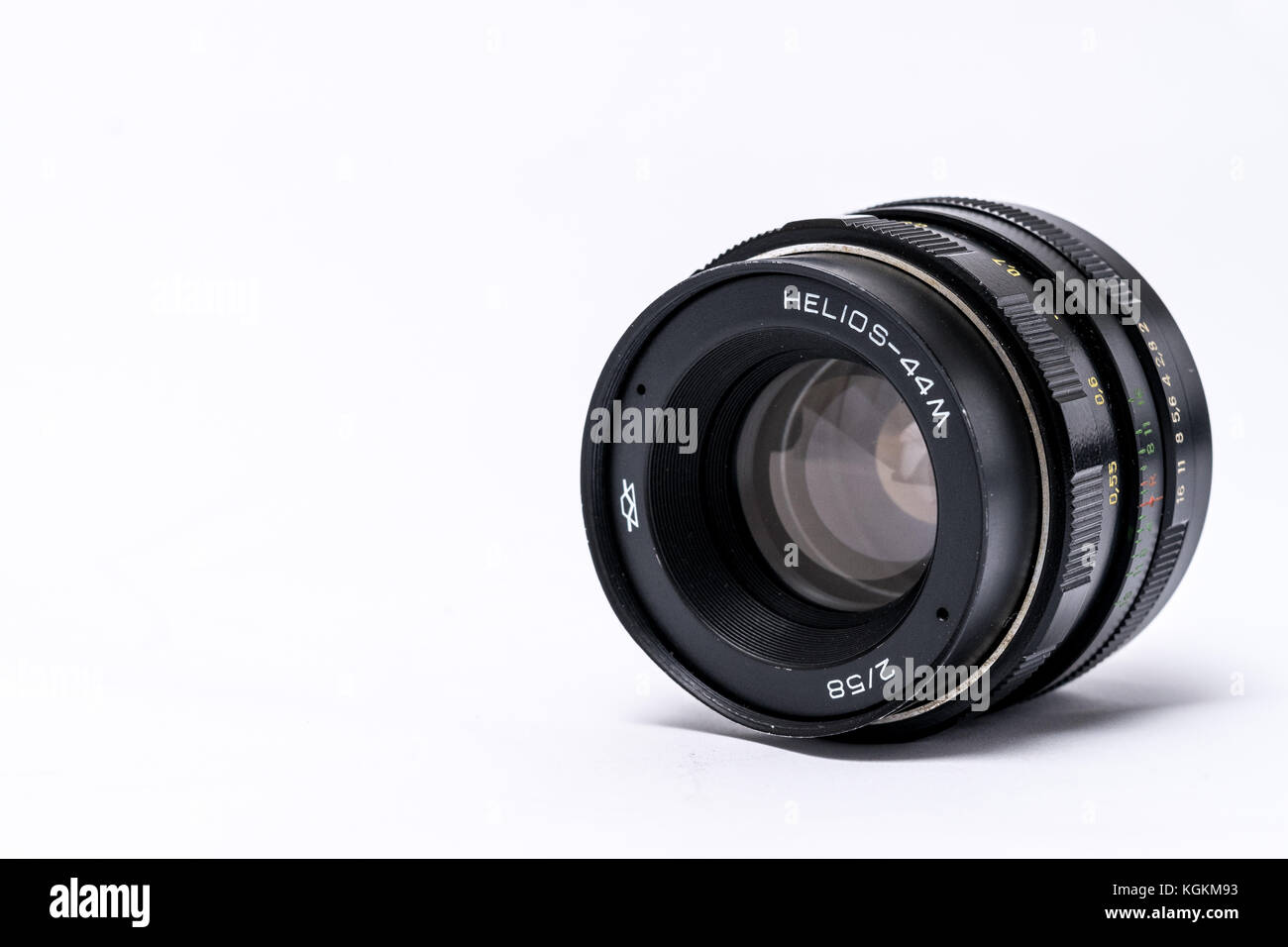 Helios 44-2 vintage USSR manual lens - Stock Image