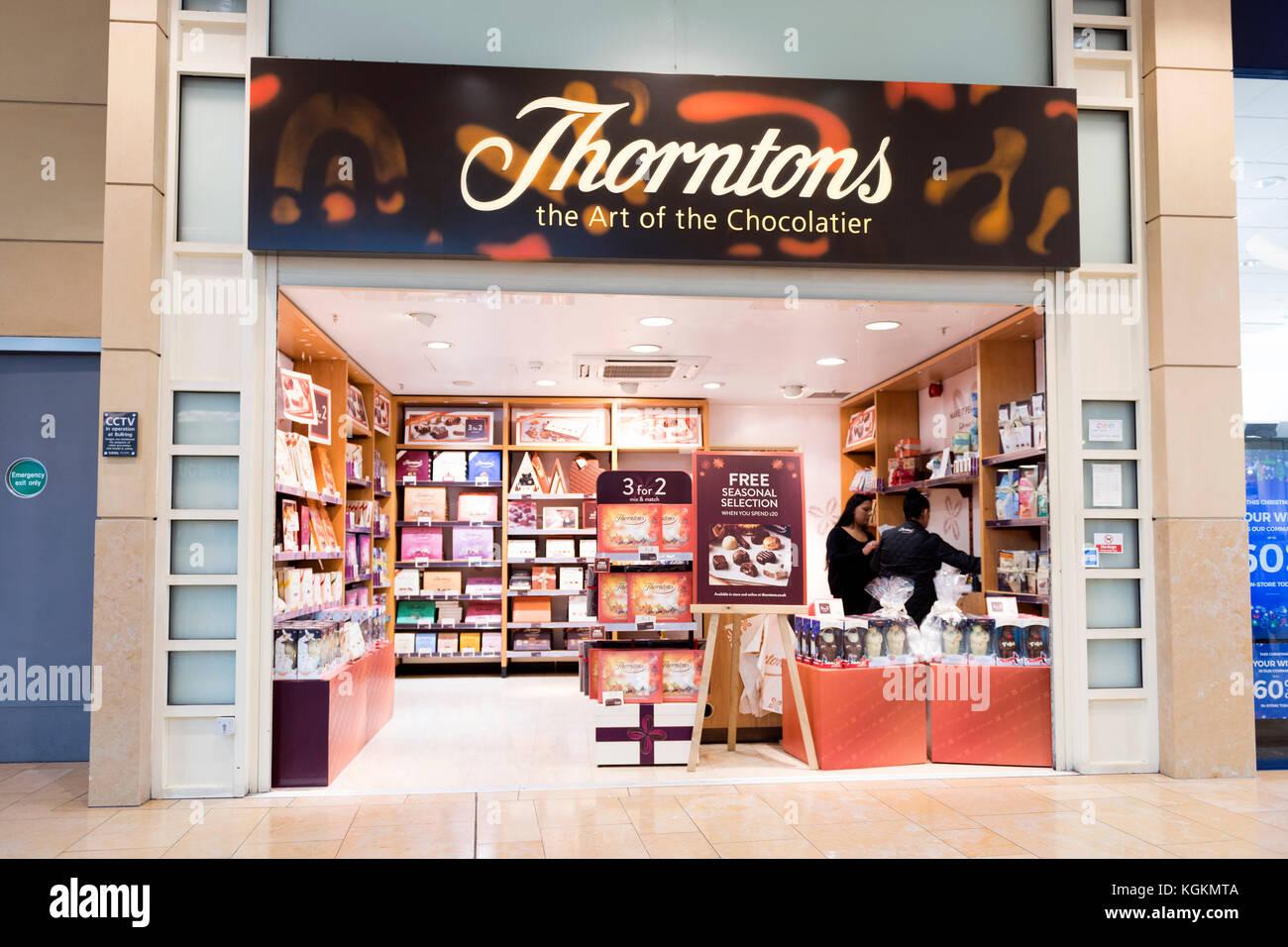 Thorntons chocolatier store, UK. - Stock Image