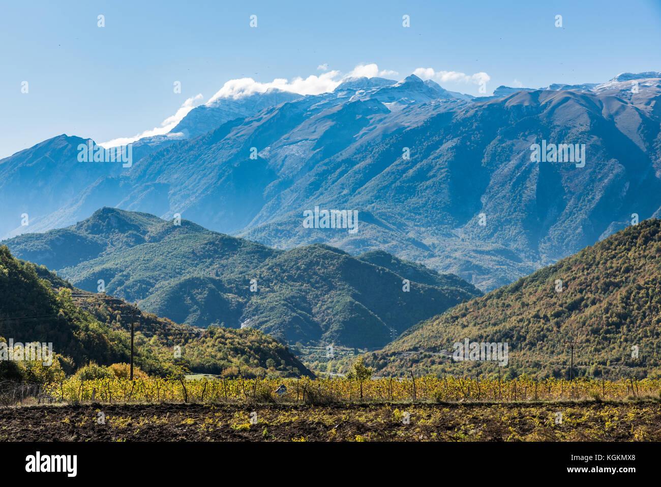 High mountains near Permet in Albania - Stock Image