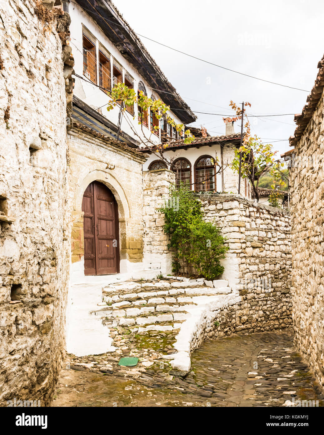 The city of Berat in Albania - Stock Image