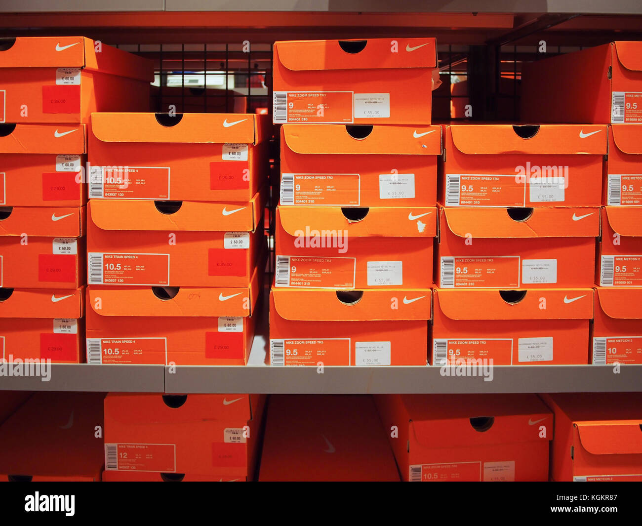 Nike Shoe Boxes Stacked