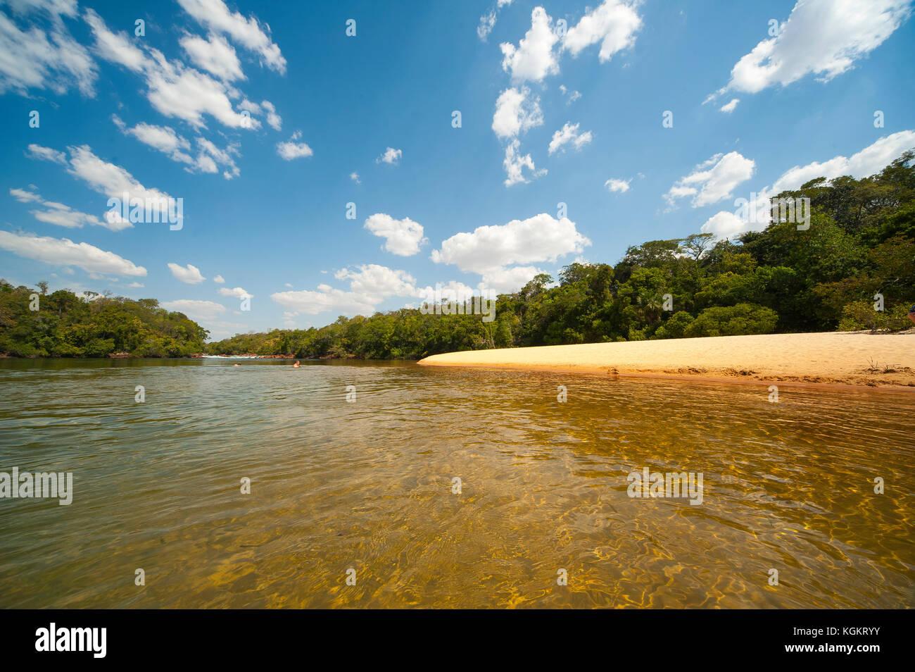 Prainha do Rio Novo, Jalapão Estadual Park, Tocantins, Brazil - Stock Image