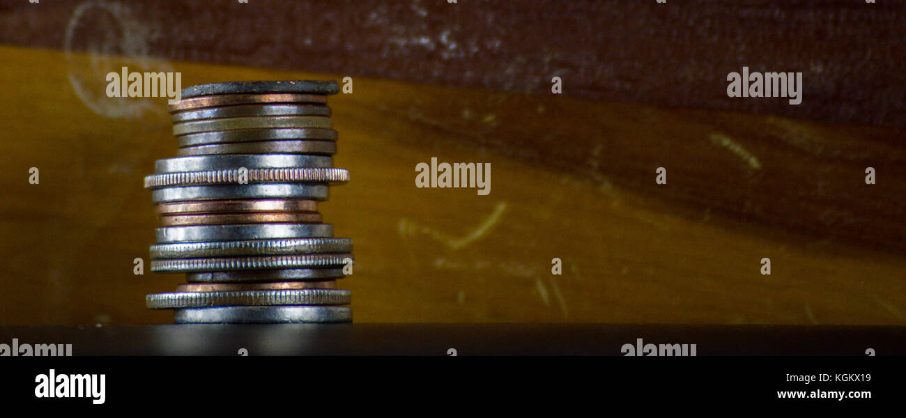 Stack of coins - Stock Image