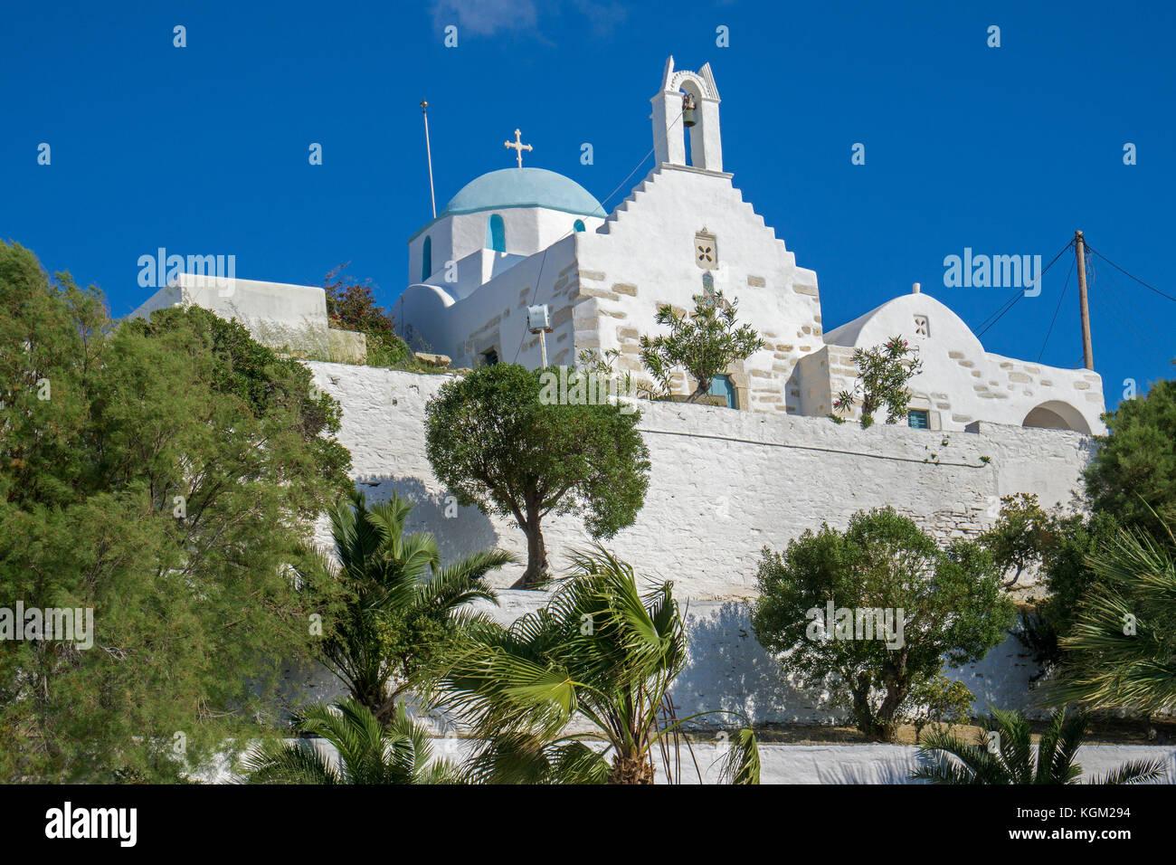 The church Agios Konstantinos at Castro quarter, Parikia, Paros island, Cyclades, Aegean, Greece - Stock Image