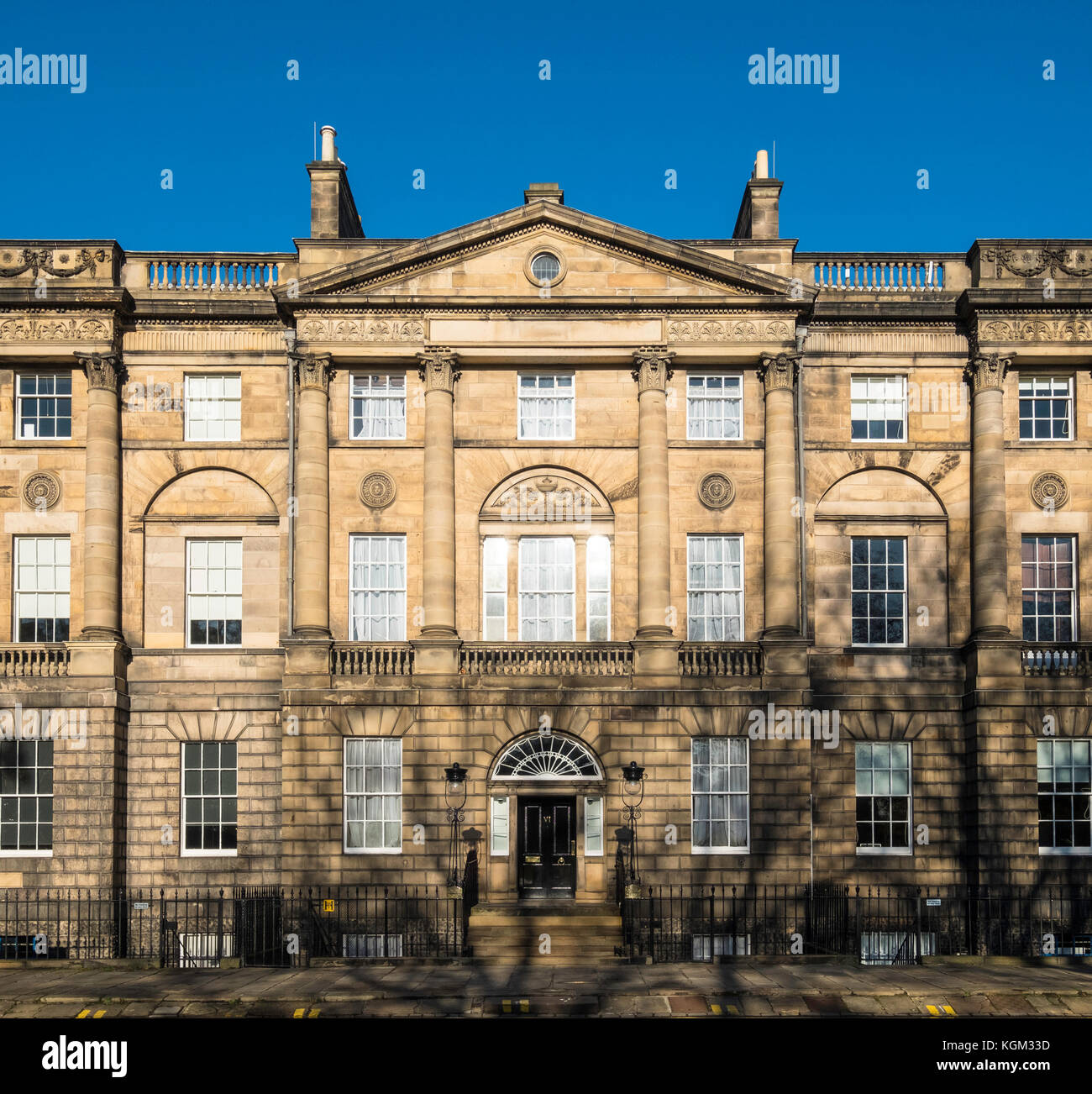 Exterior view of Bute House in Charlotte Square , the official residence of First Minister Nicola Sturgeon in Edinburgh, - Stock Image