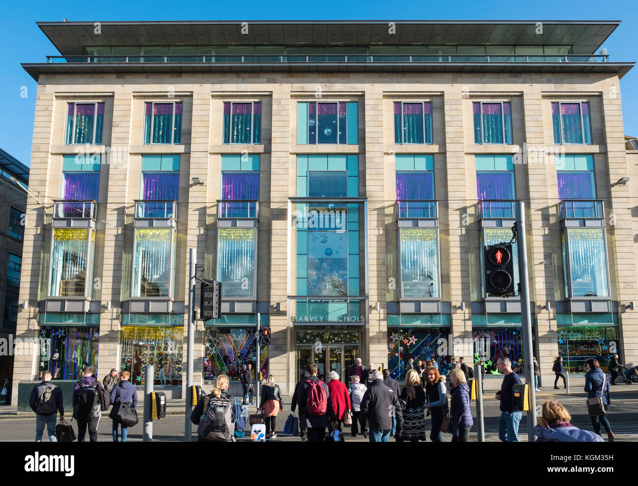 Exterior view of Harvey Nichols store on St Andrews Square in Edinburgh, Scotland, United Kingdom. - Stock Image