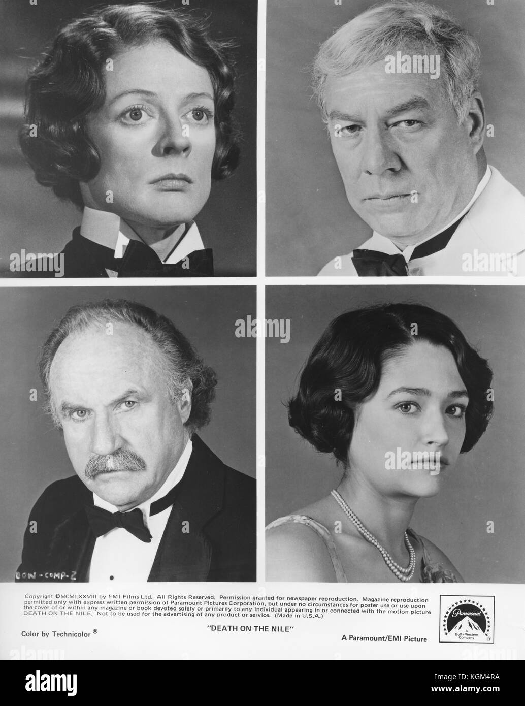 Death on the Nile (1978) , Olivia Hussey , Maggie Smith , George Kennedy , Jack Warden     Date: 1978