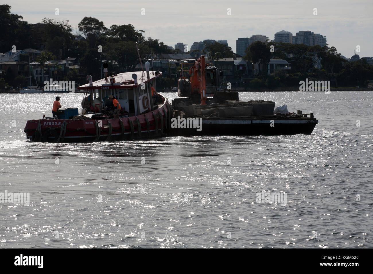ability barge jones bay pyrmont sydney new south wales australia - Stock Image