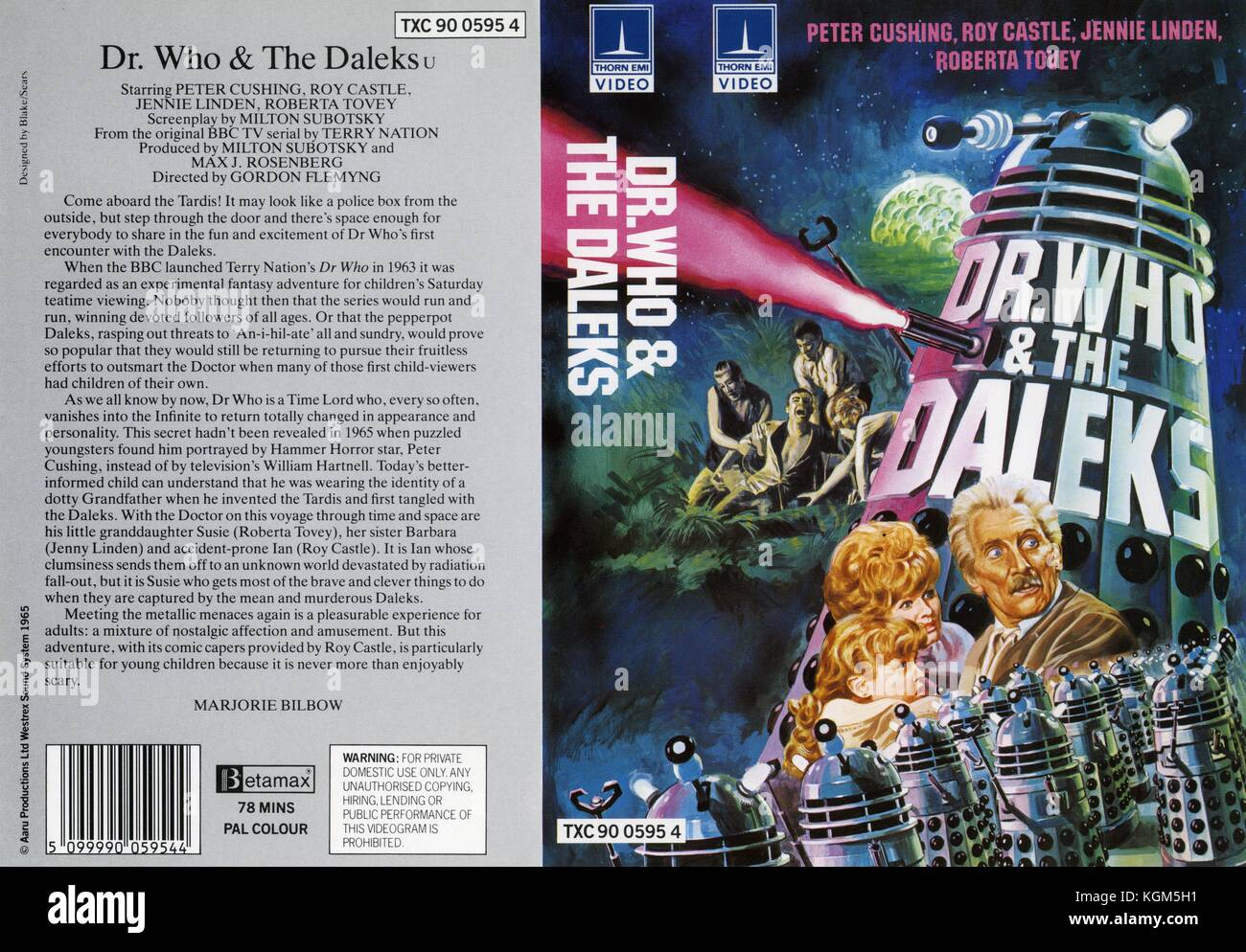 Dr. Who and the Daleks (1966)     Date: 1965 - Stock Image