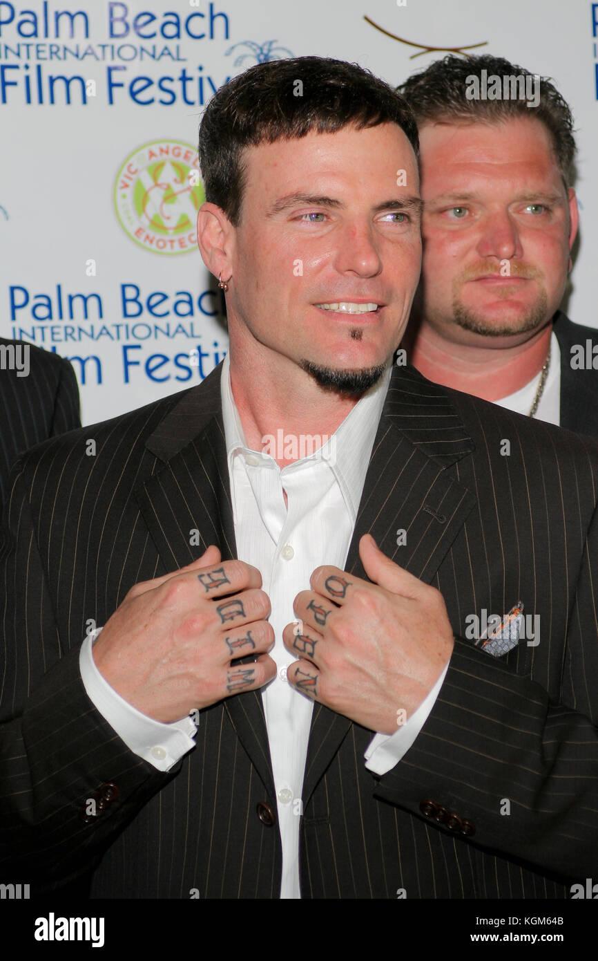 MIAMI, FL - APRIL 24 : Robert Matthew Van Winkle - Vanilla Ice 15th Annual Palm Beach International Film Festival's Stock Photo