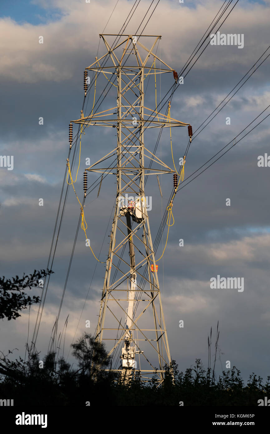 Electrical Linemen High Resolution Stock Photography And Images Alamy